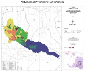 Map of Customary Law Community of Kasepuhan Karang Area